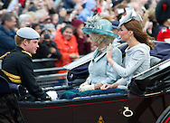 """KATE, CAMILLA AND PRINCE HARRY.TROOPING THE COLOUR_Duke of Edinburgh Makes 1st Appearance since being hospitalised.The event marks the Queen's Official Birthday, The Mall, London_16th May 2012.Photo Credit: ©Dias/DIASIMAGES..**ALL FEES PAYABLE TO: """"NEWSPIX INTERNATIONAL""""**..PHOTO CREDIT MANDATORY!!: NEWSPIX INTERNATIONAL..IMMEDIATE CONFIRMATION OF USAGE REQUIRED:.Newspix International, 31 Chinnery Hill, Bishop's Stortford, ENGLAND CM23 3PS.Tel:+441279 324672  ; Fax: +441279656877.Mobile:  0777568 1153.e-mail: info@newspixinternational.co.uk"""