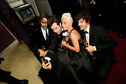 After winning the Oscar® for music written for motion pictures (original song), Andrew Wyatt, Mark Ronson, Lady Gaga, and Anthony Rossomando pose backstage during the live ABC Telecast of The 91st Oscars® at the Dolby® Theatre in Hollywood, CA on Sunday, February 24, 2019.