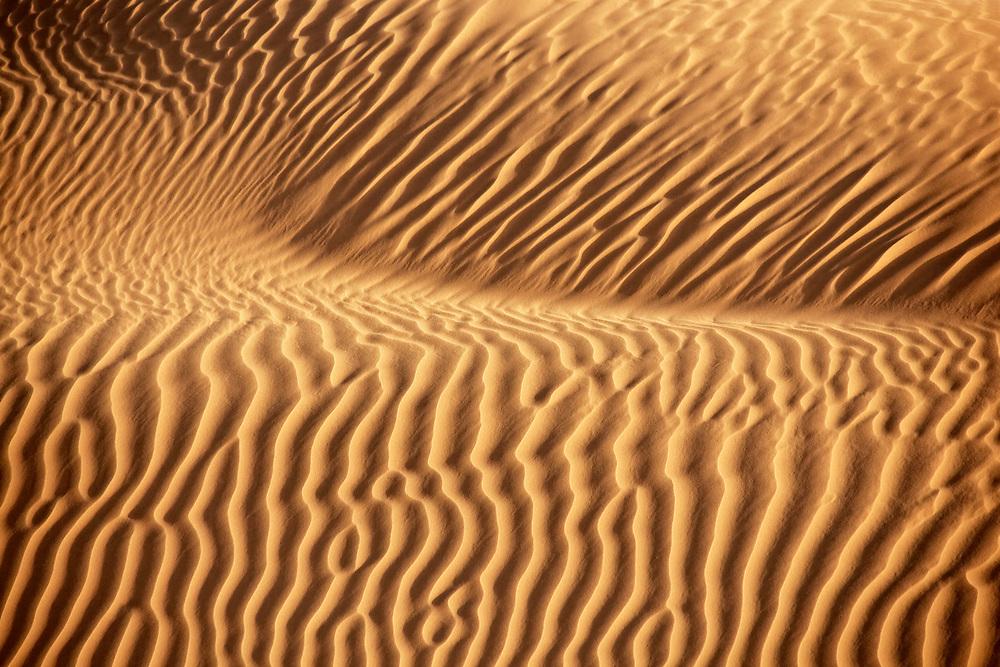 Desert sand pattern in the Sahara desert of Morocco.