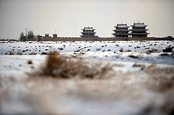 Jayu Pass after snowfall in Jiayuguan City, northwest Gansu Province, December 21, 2012. Photo by Imago / i-Images...UK ONLY
