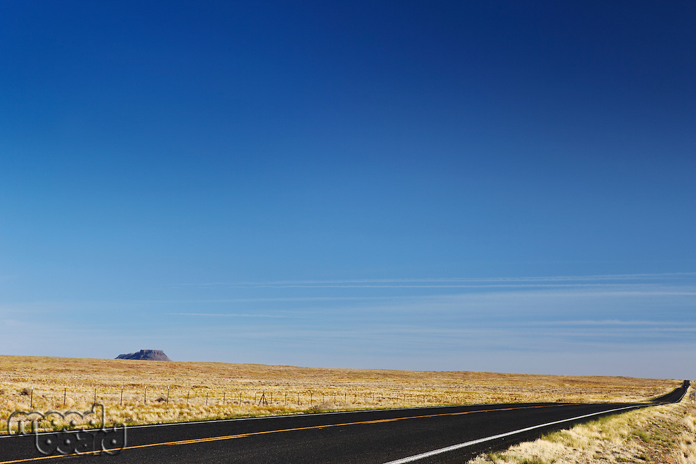 Empty road in desert USA