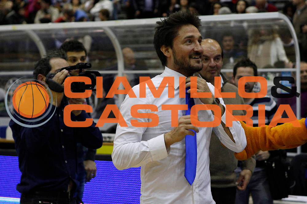 DESCRIZIONE : Capo DOrlando Campionato Lega Basket A2 2012-13 Upea Orlandina Capo dOrlando Fileni Aurora Basket  Jesi<br /> GIOCATORE : GianMarco Pozzecco<br /> SQUADRA : Orlandina Upea Capo dOrlando<br /> EVENTO : Campionato Lega Basket A2 2012-2013<br /> GARA : Upea Orlandina Capo dOrlando Fileni Aurora Basket  Jesi<br /> DATA : 17/03/2013<br /> CATEGORIA : Head Coach Ritratto<br /> SPORT : Pallacanestro <br /> AUTORE : Agenzia Ciamillo-Castoria/G.Pappalardo<br /> Galleria : Lega Basket A2 2012-2013 <br /> Fotonotizia : Capo dOrlando Campionato Lega Basket A2 2012-13 Upea Orlandina Capo dOrlando Fileni Aurora Basket  Jesi<br /> Predefinita :