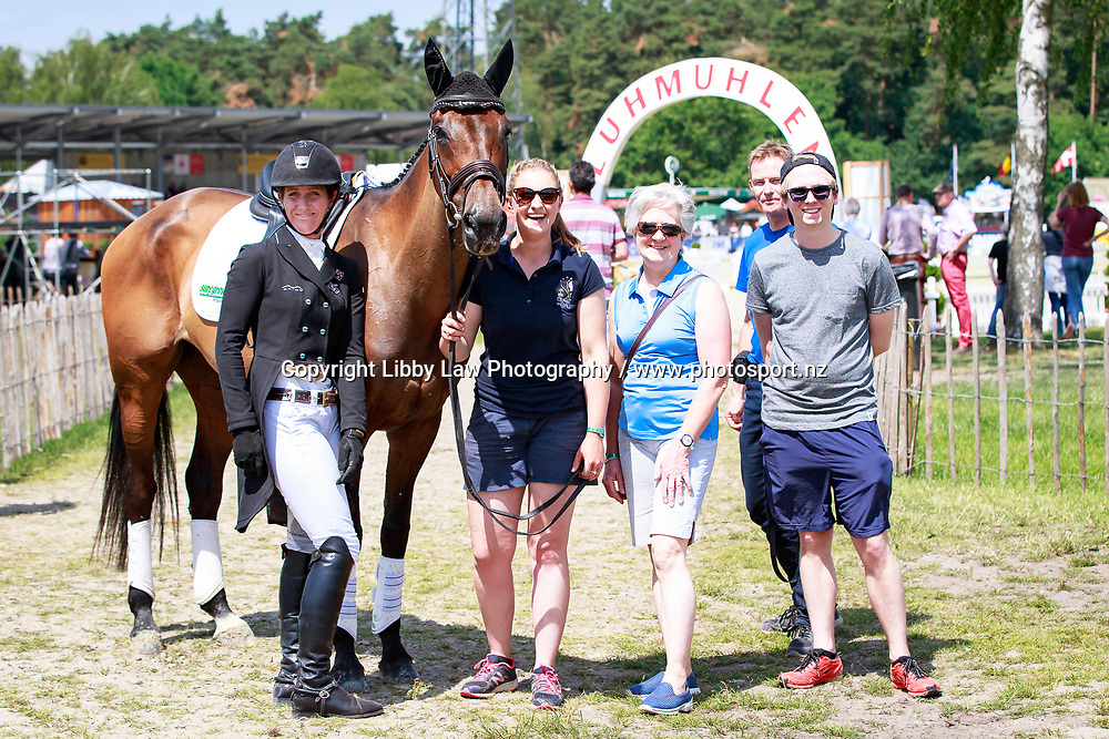 NZL-Caroline Powell with the owners of Spice Sensation into 18th position during the 1st day of Dressage, CCI4* Presented by DHL, at the 2017 Luhmühlen International Horse Trial. Thursday 15 June. Copyright Photo: Libby Law Photography