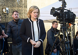 © Licensed to London News Pictures. 12/12/2018. London, UK. Secretary of State for Work and Pensions AMBER RUDD MP is seen during a media interview in Westminster as Prime Minister Theresa May faces a vote of no confidence from her own party. Photo credit: Ben Cawthra/LNP