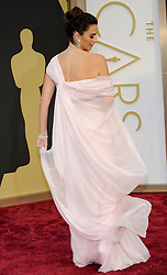 Penelope Cruz arriving to the 2014 Oscars at the Hollywood and Highland Center in Hollywood, California, USA,  Sunday, 2nd March 2014. Picture by Hollywood Bubbles / i-Images<br /> UK ONLY