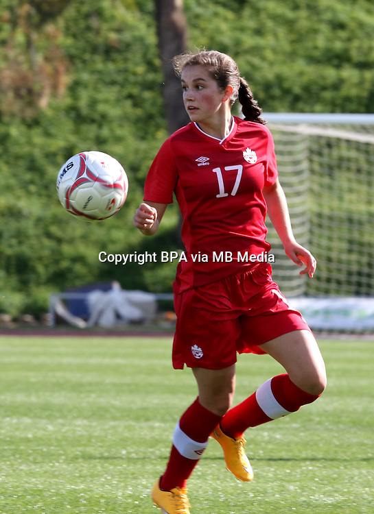 Fifa Womans World Cup Canada 2015 - Preview //<br /> Cyprus Cup 2015 Tournament ( Gsz Stadium Larnaca  - Cyprus ) - <br /> Canada vs South Korea 1-0  //  Jessie Fleming of Canada