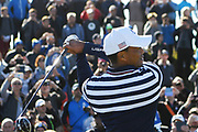 Tiger Woods (Usa) during the practice round of Ryder Cup 2018, at Golf National in Saint-Quentin-en-Yvelines, France, September 26, 2018 - Photo Philippe Millereau / KMSP / ProSportsImages / DPPI
