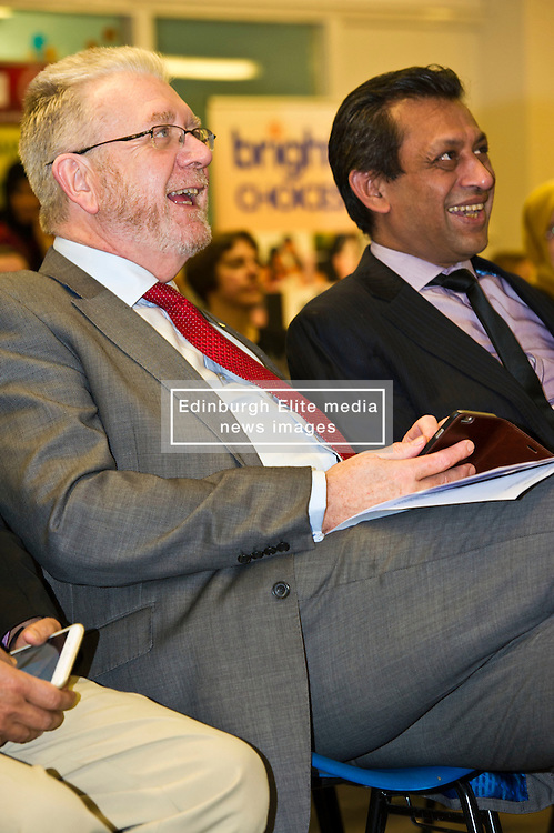 Pictured: Mike Russell and Foyson Choudhury ELREC Chair<br /> <br /> SNP Brexit minister Mike Russell spoke at an Edinburgh and Lothians Regional Equality Council event which aimed to facilitate discussion between service providers in the public and third sectors, and asylum seekers and refugees in order to hear about the circumstances and needs.<br /> <br /> Ger Harley | EEm 6 December 2016