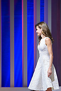 071717 Queen Letizia at the Ceremony of the National Fashion Awards