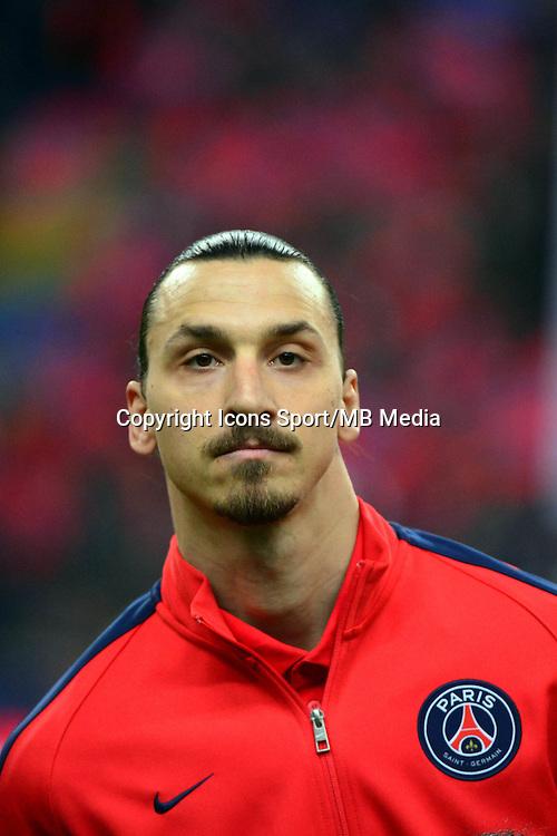 Zlatan IBRAHIMOVIC    - 11.04.2015 -  Bastia / PSG - Finale de la Coupe de la Ligue 2015<br />Photo : Dave Winter / Icon Sport