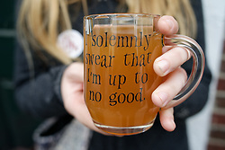 During most of the festival ines were foundoutside many of the bars offering the special brew. (Bastiaan Slabbers/for PhillyVoice)