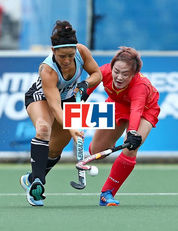New Zealand, Auckland - 18/11/17  <br /> Sentinel Homes Women&rsquo;s Hockey World League Final<br /> Harbour Hockey Stadium<br /> Copyrigth: Worldsportpics, Rodrigo Jaramillo<br /> Match ID: 10294 - ARG vs CHN<br /> Photo: (15) GRANATTO Maria Eugenia against (16) OU Zixia&nbsp;(C)
