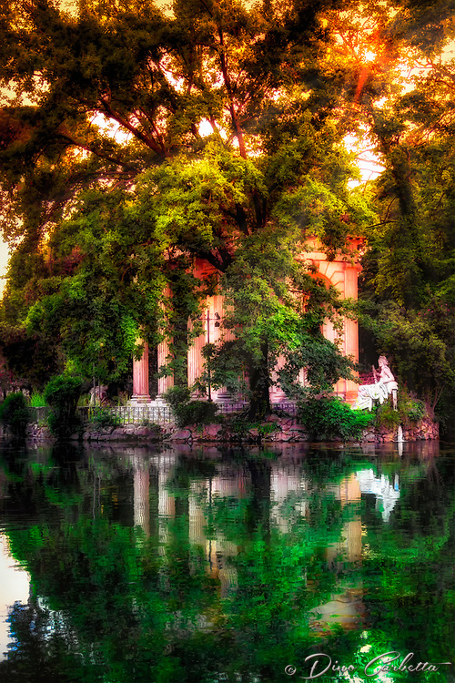 """Reflections of the sun on Villa Borghese – Rome""…<br />
