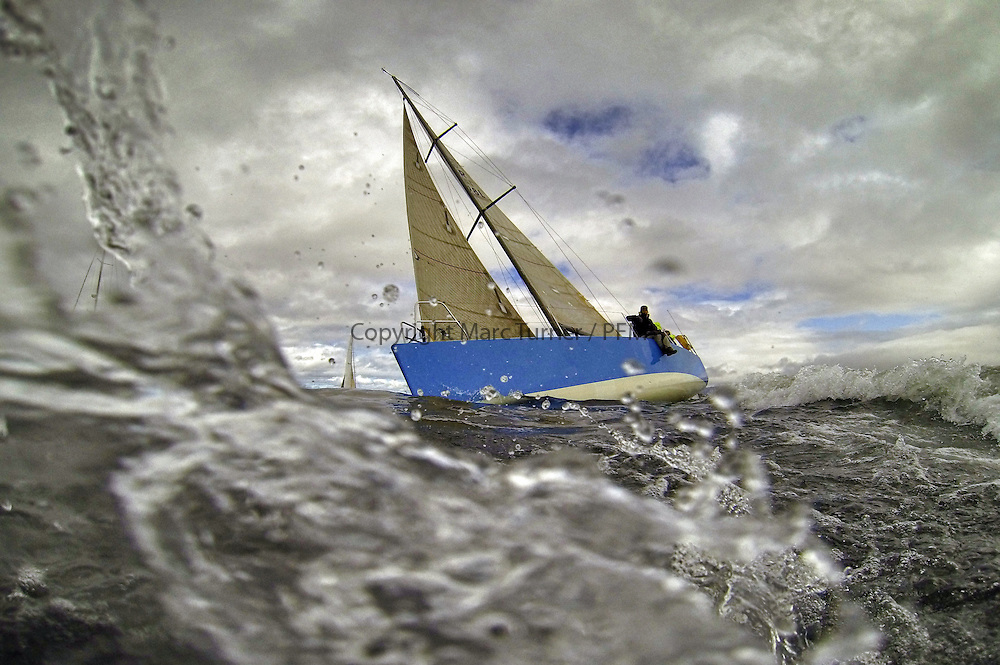 The Clyde Cruising Club's Scottish Series held on Loch Fyne by Tarbert. .Day 3 racing initially postponed awaiting  a light southerly...GBR1498L ,Enigma ,Seona Buchanan ,Oban SC ,Enigma 34