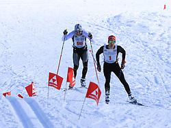 31.01.2015, Bad Mitterndorf, AUT, 36. Internationaler Steiralauf, 50 km Freie Technik, im Bild der Zielsprint zwischen Norbert Ganner (AUT, Startnummer 96) und Niklas Lieder (AUT, Startnummer 1) // finish of Norbert Ganner (AUT, number 96) and Niklas Liederer (AUT, number 1) at the 36th international Steiralauf 50 km Freestylerace in Bad Mitterndorf, Austria on 2015/01/31. EXPA Pictures © 2015, PhotoCredit: EXPA/ Martin Huber