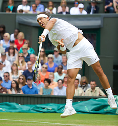 LONDON, ENGLAND - Thursday, June 26, 2014: Rafael Nadal (ESP) during the Gentlemen's Singles 2nd Round match on day four of the Wimbledon Lawn Tennis Championships at the All England Lawn Tennis and Croquet Club. (Pic by David Rawcliffe/Propaganda)