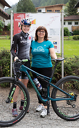 11.06.2019, Kals am Grossglockner, AUT, Laura Stigger Bike Challenge, Pressekonferenz, im Bild Laura Stigger, BGM Erika Rogl // Laura Stigger and major Erika Rogl during a press conference for the Laura Stigger Bike Challenge in Kls am Grossglockner. Austria on 2019/06/11. EXPA Pictures © 2019, PhotoCredit: EXPA/ Johann Groder