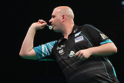 Rob Cross during the PDC Premier League Darts at Arena Birmingham, Birmingham, United Kingdom on 25 April 2019.