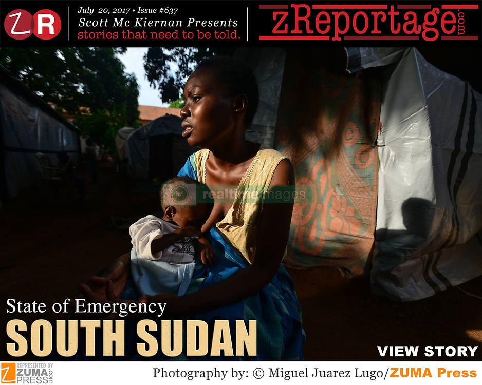 zReportage.com Story of the Week # 637 -  South Sudan: State of Emergency - Launched July 21, 2017 - Full multimedia experience: audio, stills, text and or video: Go to zReportage.com to see more - Things are spiraling downward in South Sudan, as world's youngest nation is well into its fourth year of civil war. Two years after emerging as an independent state, oil-rich South Sudan was plunged into conflict in 2013 as rivalry between President Kiir and his then-vice president, Machar, turned into violence. Since then, the U.N. stated, that the fighting has often been along ethnic lines and has triggered Africa's worst refugee crisis, with more than 4 million people fleeing their homes. South Sudan's President Salva Kiir has declared a state of emergency in his home state of Gogrial and parts of three other states where clashes have raged for months between clan-based militias. The U.N. has several peacekeeping bases in South Sudan, where tens of thousands have been killed in the civil war. To make matters worse, in the past 10 months, more than 300 deaths have been reported and nearly 17,000 cases of cholera reported in the northeast Africa country. Cholera is endemic in South Sudan and historically, outbreaks occur annually. But with some 6 million people in South Sudan currently facing starvation, Doctors, aid workers and officials in are warning of a ''devastating'' outbreak of cholera that could kill thousands of people in a country where millions are already threatened by famine. Children are paying a disproportionate price as famine looms across the region where nearly 1.4 million children face imminent risk of death, and more than five million children face malnourishment this year, according to UNICEF. Eight of the largest U.S.based aid groups are joining together in a new campaign to address what the United Nations calls the world's largest humanitarian crisis in more than 70 years. (Credit Image: © Miguel Juarez Lugo/zReportage.com via ZUMA Wire)