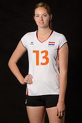 28-06-2013 VOLLEYBAL: NEDERLANDS MEISJES VOLLEYBALTEAM: ARNHEM <br /> Selectie Jeugd Oranje meisjes seizoen 2013-2014 / Demi Pot<br /> ©2013-FotoHoogendoorn.nl
