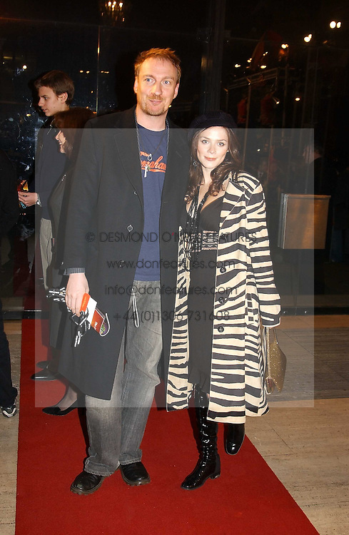 Actress ANNA FRIEL and actor DAVID THEWLISS at the return of Dralion to celebrate the Cirque Du Soleil's 20th Anniversary at the Royal Albert Hall, London on 6th January 2005.<br />
