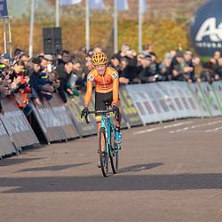 04-11-2018: Wielrennen: EK veldrijden: Rosmalen <br />Pim ROnhaar (NED-Hellendoorn) pakt de Europese titel veldrijden bij de junioremn