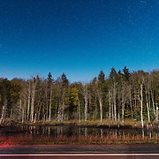 Starry Sky over the Highland Scenic Highway. Monongahela National Forest. West Virginia