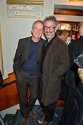 Left to right, FRANK SKINNER and DAVID BADDIEL at the opening night of People, Places & Things at The Wyndham's Theatre, Charing Cross Road, London on 23rd March 2016,