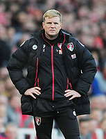Football - 2016 / 2017 Premier League - Arsenal vs. Bournemouth<br /> <br /> Bournemouth Manager Eddie Howe at The Emirates.<br /> <br /> COLORSPORT/ANDREW COWIE