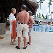 BAVARO, DOMINICAN REPUBLIC-DECEMBER 3, 2014: <br /> Tourist mill about in the pool area of the all inclusive Barcel&oacute; Premium Adults Only hotel in B&aacute;varo. Story on tourism to the Caribbean Island.  (Photo by Angel Valentin/Getty Images for Der Spiegel)