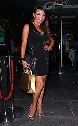 Lizzie Cundy attends the 'Rock Your Jeans' party at the Jewel Bar in London, UK. 03/09/2013<br />