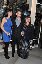 Left to right, LINZI STOPPARD, WILL STOPPARD and DR MIRIAM STOPPARD at a party to celebrate the opening of the new Nicole Farhi global flagship store at 25 Conduit Street, London W1 on 19th September 2011.