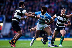 Matias Orlando of Argentina takes on Damian de Allende of Barbarians - Mandatory by-line: Robbie Stephenson/JMP - 01/12/2018 - RUGBY - Twickenham Stadium - London, England - Barbarians v Argentina - Killick Cup