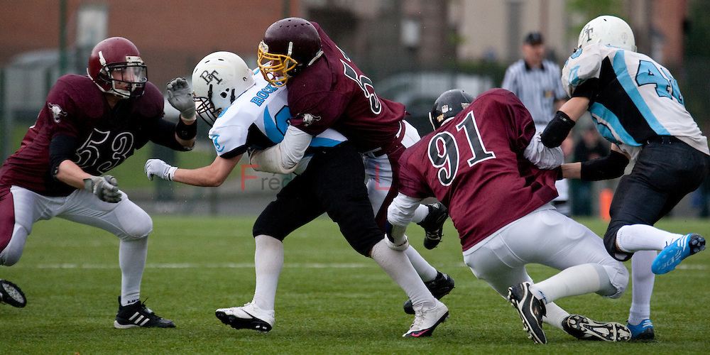 May 29, 2010; Brussels, Belgium. Belgian Bowl XXIII : Brussels Tigers - West-Vlaanderen Tribes. The Tribes won their 5th Belgian Bowl in a row, by 36 - 6.