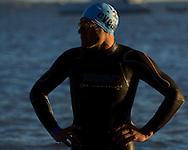 Swim Leg.Geelong Olympic Distance Triathlon.Age Group Event.2011 Geelong Multi-Sport Festival.Eastern Beach, Geelong, Victoria, Australia.20/02/11.Photo By Lucas Wroe