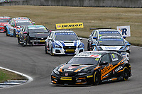 #27 Dan Cammish Halfords Yuasa Racing Honda Civic Type R (FK8) during BTCC Race 1  as part of the Dunlop MSA British Touring Car Championship - Rockingham 2018 at Rockingham, Corby, Northamptonshire, United Kingdom. August 12 2018. World Copyright Peter Taylor/PSP. Copy of publication required for printed pictures.