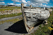 Wreck of a Galway Hooker in Connemara, Co. Galway, Ireland.