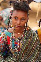 Niger. Region de Tahoua. Campement des nomades Peuls. // Niger. Tahoua province. Peul nomad camp.