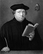 Martin Luther (1481-1546), German Protestant reformer. Engraving c1830.