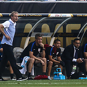 United States Manager JURGEN KLINSMANN walks the side lines in the first half of a Copa America Centenario Group A match between the United States and Paraguay Saturday, June. 11, 2016 at Lincoln Financial Field in Philadelphia, PA.
