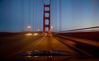 USA, California, San  Francisco, crossing Golden Gate Bridge