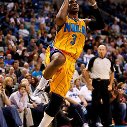 December 10, 2010; New Orleans, LA, USA; New Orleans Hornets point guard Chris Paul (3) shoots against the Oklahoma City Thunder during the second half at the New Orleans Arena.  The Thunder defeated the Hornets 97-92. Mandatory Credit: Derick E. Hingle-US PRESSWIRE