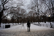 Photographer waiting at Central Park, New York