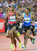 Mo Ahmed aka Mohamed Ahmed (CAN) and Muktar Edris (ETH) run in the 5,000m during the Weltklasse Zurich in an IAAF Diamond League meeting at Letzigrund Stadium in Zurich, Switzerland on Thursday, August 24, 2017.   (Jiro Mochizuki/Image of Sport)
