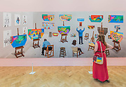 Seven trollies, six and a half stools, six portraits, eleven paintings and two curtains by David Hockney - Royal Academy celebrates its 250th Summer Exhibition, and to mark this momentous occasion, the exhibition is co-ordinated by Grayson Perry RA.