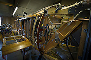 The fusillade of a Sopworth Strutter under construction by members of the Aviation Preservation Society of Scotland (APSS) at a workshop on the site of the Museum of Flight at East Fortune, Scotland. The project to build the World War I fighter began almost 15 years ago and has involved dozens of men constructing the biplane using original plans. Each part of the aircraft has been individually sourced or crafted to ensure authenticity and it is hoped that it will be completed and be airborne in 2016.