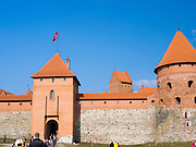 View of Trakai Castle, Trakai, Lithuania, an old, restored historic castle that is famous in Lithuania.