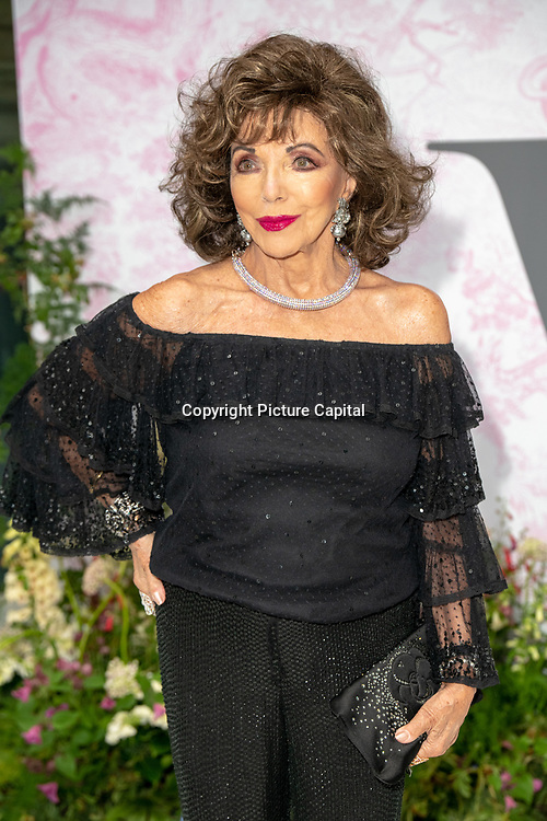 Joan Collins arrives at V&A - summer party, on 19 June 2019, London, UK