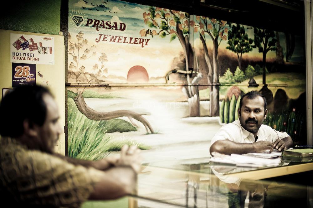 Jewelry salesman in Little India, Kuala Lumpur