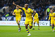 GOAL! Swansea City forward Andre Ayew (22) celebrates after scoring his team's first goal during the EFL Sky Bet Championship match between Sheffield Wednesday and Swansea City at Hillsborough, Sheffield, England on 9 November 2019.